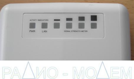 6 индикаторов на задней стенке WiFi  NanoStation2