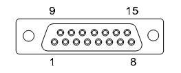 Характеристики разъема DB15 радиомодема Javad HPT-404 BT